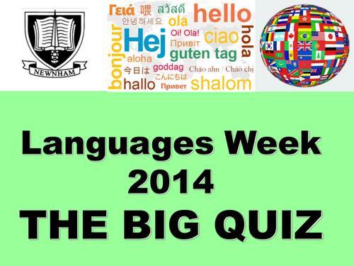 European Day of Languages / Languages Week QUIZ