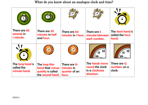 Time Activity cards