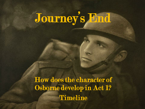 journeys end act 1