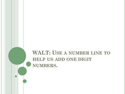 Add using a number line