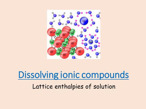 Dissolving ionic compounds
