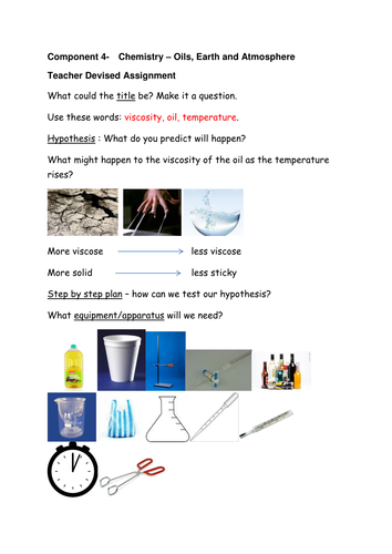 viscosity of oils experiment plan scaffold