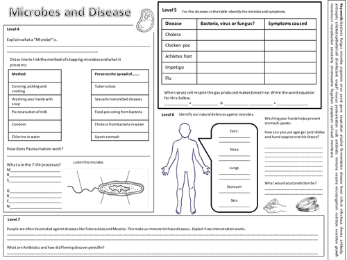 Science unit 8C microbes revision exercise by bs99amb - Teaching ...