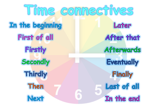 Time connectives word mat by LorenT - Teaching Resources - TES