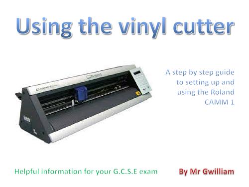 Using a vinyl cutter