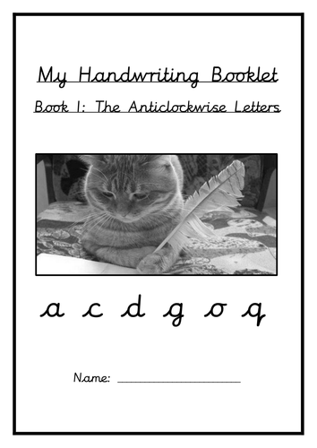 Cursive Handwriting Booklets and Sheets - Updated