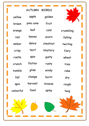 Autumn Themed Lesson Ideas For Primary