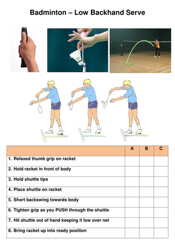 Badminton Low Serve