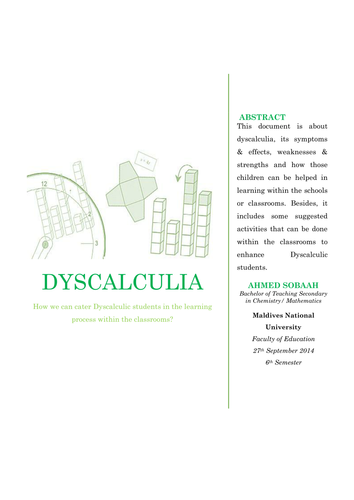Dyscalculia in Brief