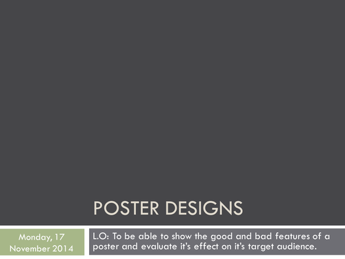 Poster Design and Evaluation