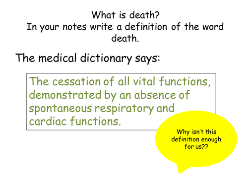 Edexcel A2 Life after Death 10 lessons