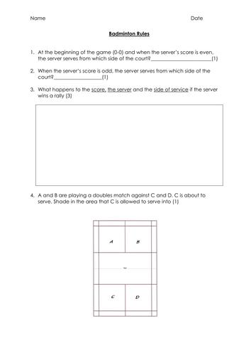 Basic Badminton Rules Test