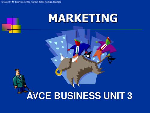 Marketing Unit 3