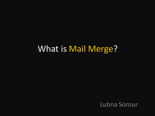 What is Mail Merge