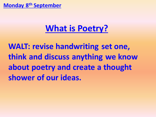 Poetic Forms lesson 1 - FREE