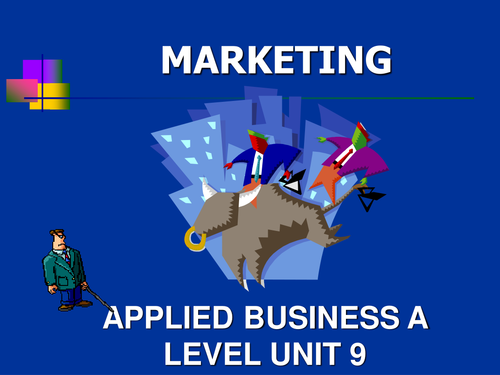 Marketing presentation for Applied A level or BTEC