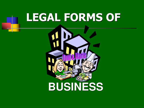 Legal forms of Business interactive - limited version