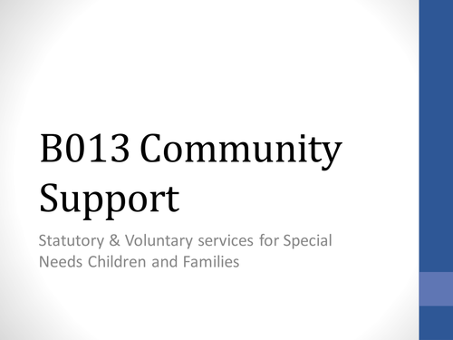 Community Support - SEN services for children