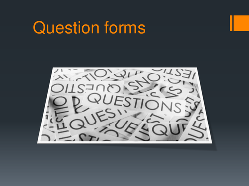 Question forms revision