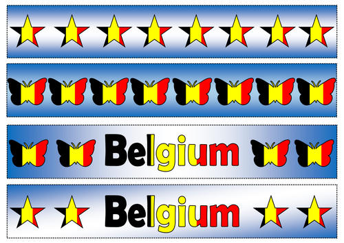 Flag of Belgium Themed Cut-out Borders