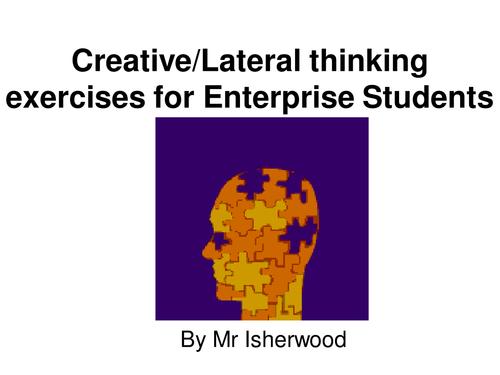 Creative thinking lesson for Enterprise/PSHE free version