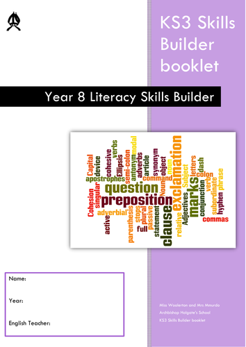 ks3 literacy skills builder booklets by hannahwoolerton teaching resources tes. Black Bedroom Furniture Sets. Home Design Ideas