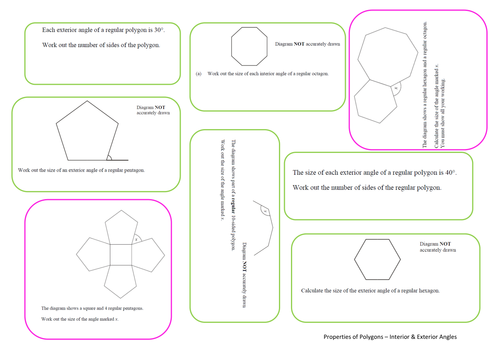 An investigation into interior and exterior angles by lozdunn – Interior and Exterior Angles Worksheet