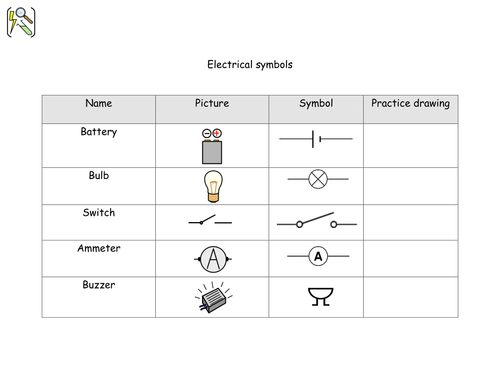 Electrical Circuit Components Using Widgit Symbols By Shiningmimi