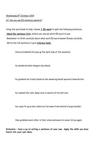 formal letter of complaint by fairykitty teaching resources tes ed sentence openers