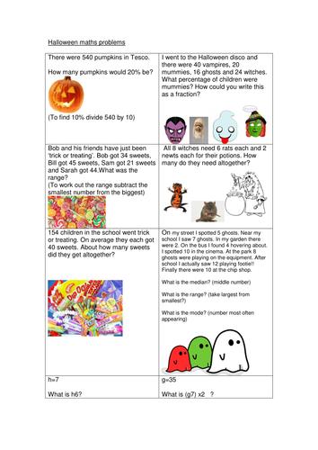 Halloween Maths Full Activity!