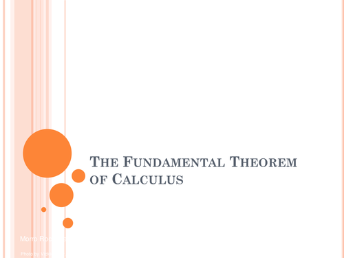Fundamental Theorem of Calculus by eugenesze   Teaching