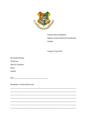 Harry Potter Letter of Complaint