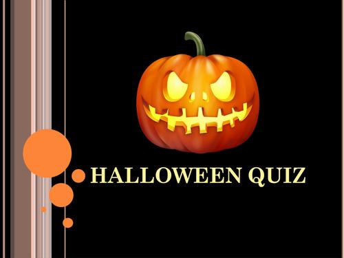 Halloween  quiz & answers