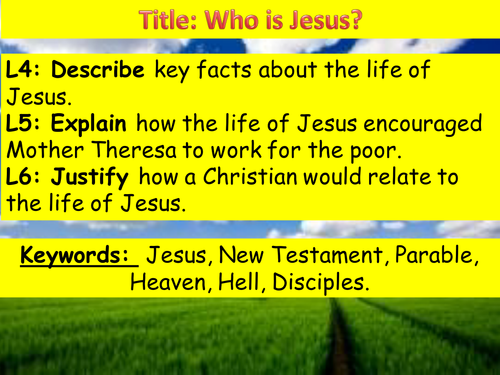 Who was Jesus? (Year 7)