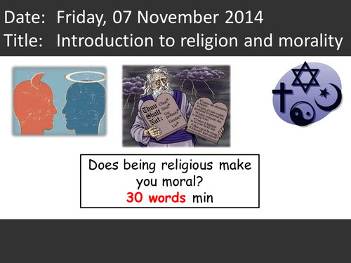 Introduction to religion and morality