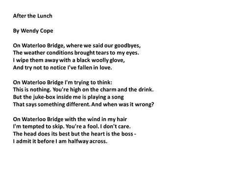 an overview of the concept of the faith in the poems bloody men by wendy cope and easter wings by ge Table of contents for literature : belloc, wendy cope n a selection poetry 884 george herbert n easter wings 884 john hollander n swan and.