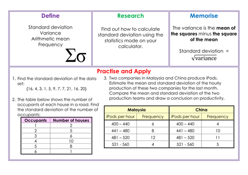 Standard Deviation Homework by mrsmorgan1 Teaching Resources Tes – Standard Deviation Worksheets