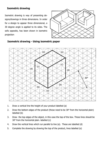 Isometric Drawing using isometric grid paper by aubsrob