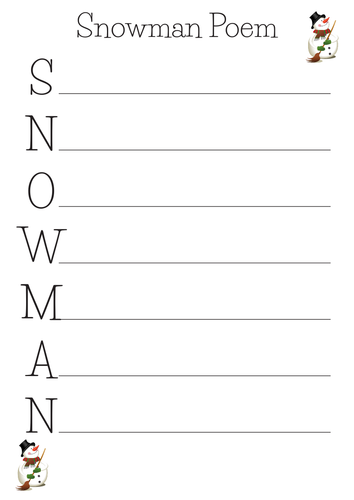 Snowman acrostic poem template by petitshorty teaching resources snowman acrostic poem template by petitshorty teaching resources tes pronofoot35fo Choice Image