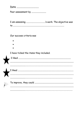 how to write a peer assessment
