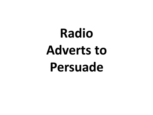 Adverts - Poster, Radio and Places