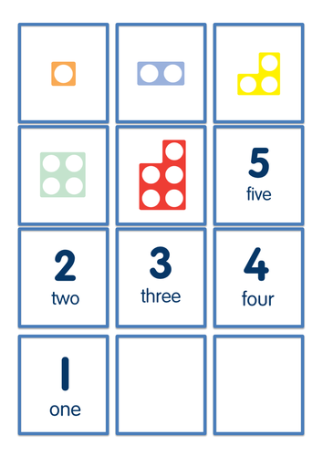 Matching Amounts to Numerals - Numicon Shapes