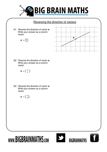 Vectors Worksheets Teaching Resources