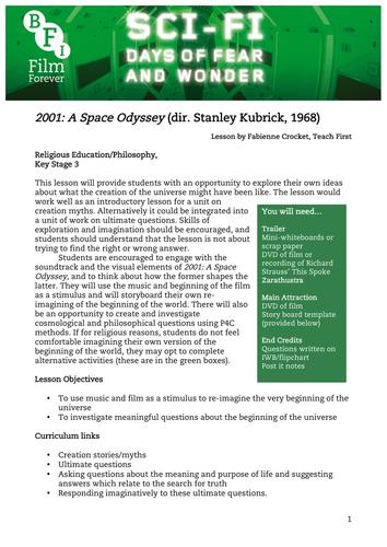 2001: A Space Odyssey RE KS3