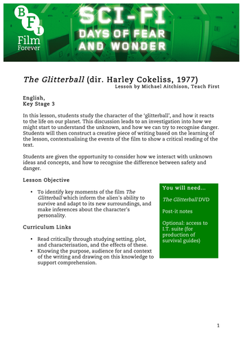 The Glitterball English KS3