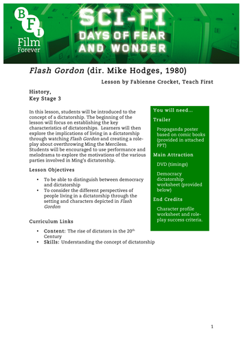Flash Gordon History KS3
