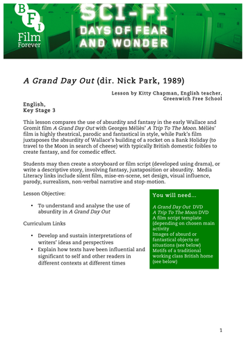 A Grand Day Out English KS3