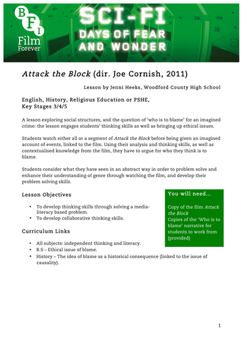 Attack the Block English KS3 to 5