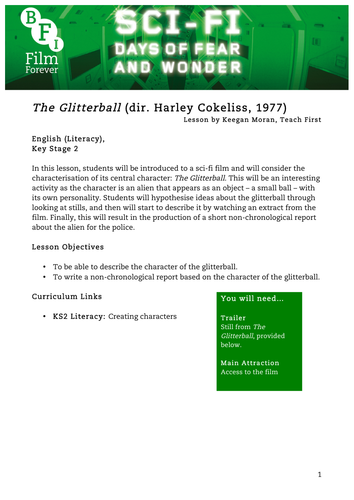 The Glitterball English KS2