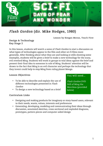 Flash Gordon Design Technology KS2